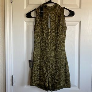 Olive green romper brand new with tags